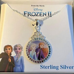 circle necklace wth anna and elsa 595