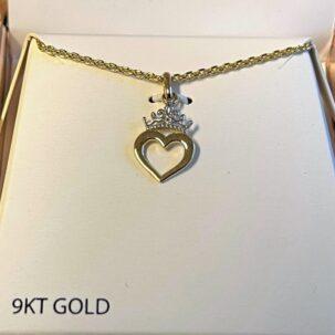 guldkrone med hjerte 895